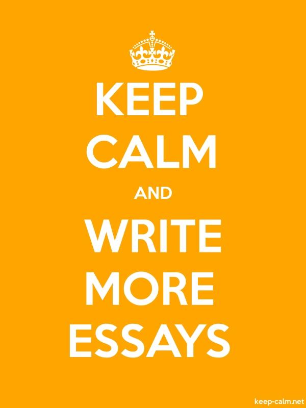 KEEP CALM AND WRITE MORE ESSAYS - white/orange - Default (600x800)