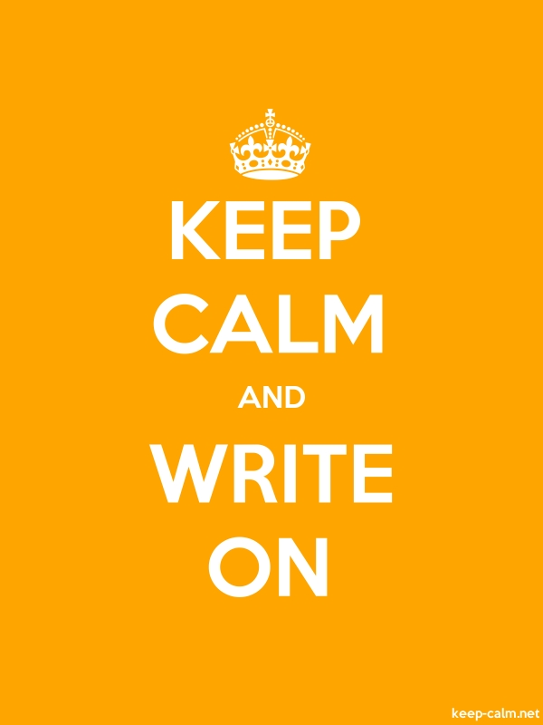 KEEP CALM AND WRITE ON - white/orange - Default (600x800)