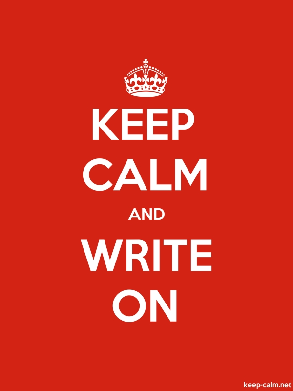 KEEP CALM AND WRITE ON - white/red - Default (600x800)