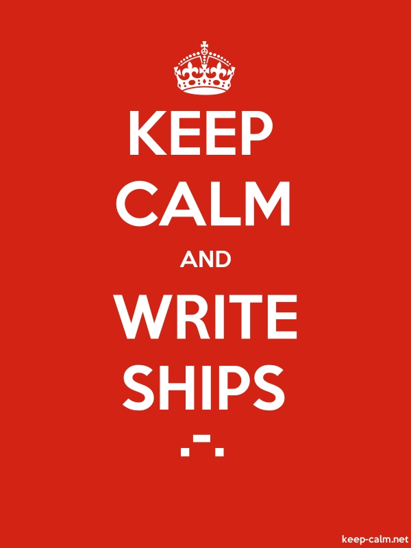 KEEP CALM AND WRITE SHIPS .-. - white/red - Default (600x800)