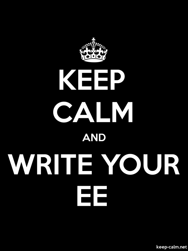 KEEP CALM AND WRITE YOUR EE - white/black - Default (600x800)