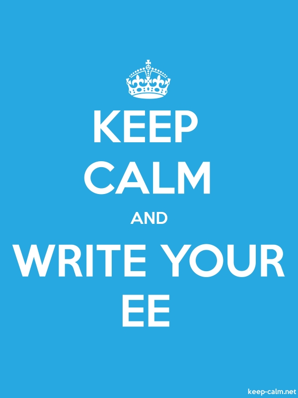 KEEP CALM AND WRITE YOUR EE - white/blue - Default (600x800)