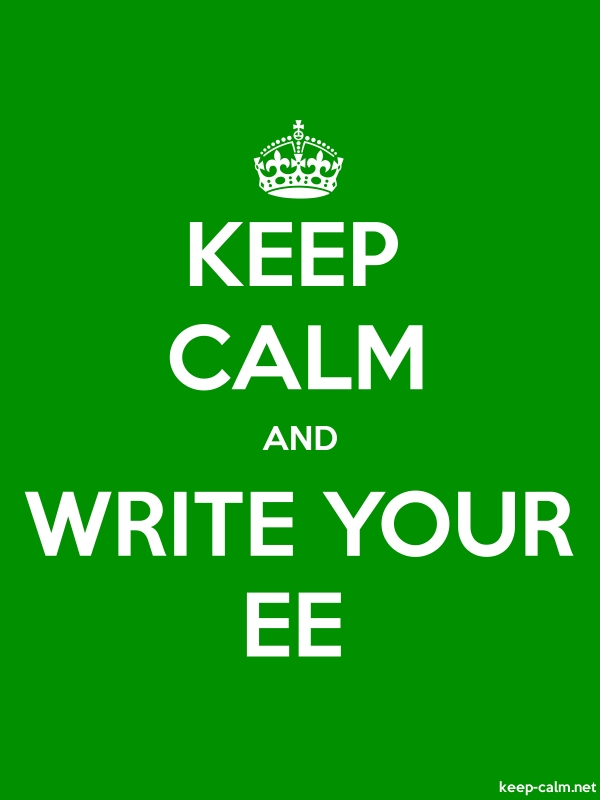 KEEP CALM AND WRITE YOUR EE - white/green - Default (600x800)