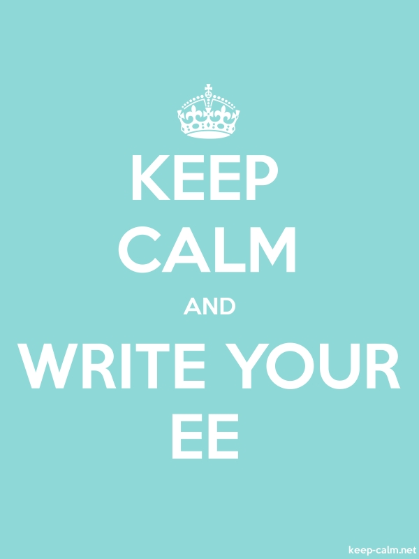 KEEP CALM AND WRITE YOUR EE - white/lightblue - Default (600x800)