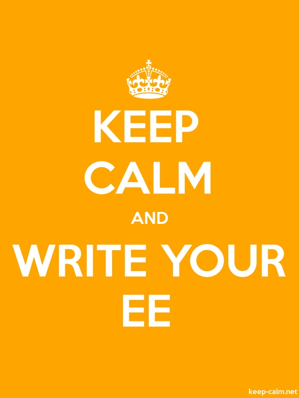 KEEP CALM AND WRITE YOUR EE - white/orange - Default (600x800)