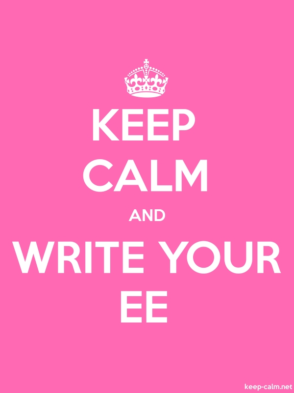 KEEP CALM AND WRITE YOUR EE - white/pink - Default (600x800)