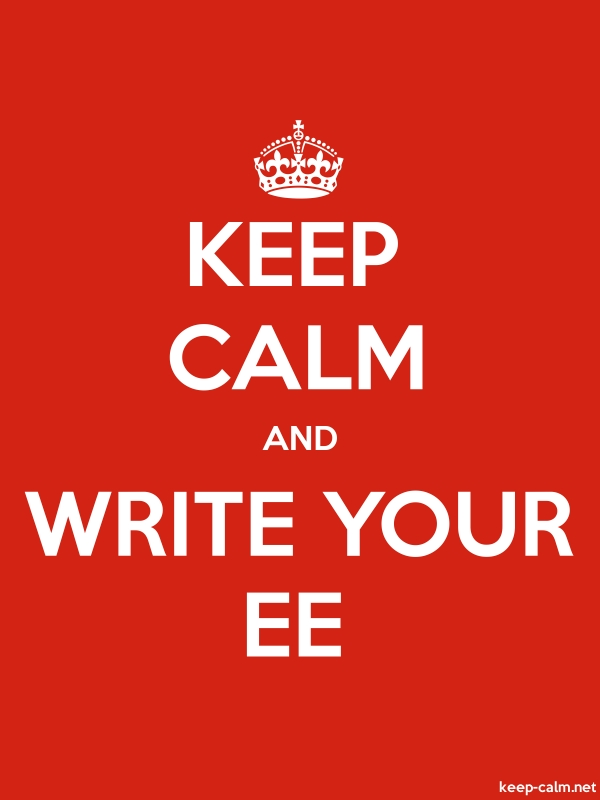 KEEP CALM AND WRITE YOUR EE - white/red - Default (600x800)
