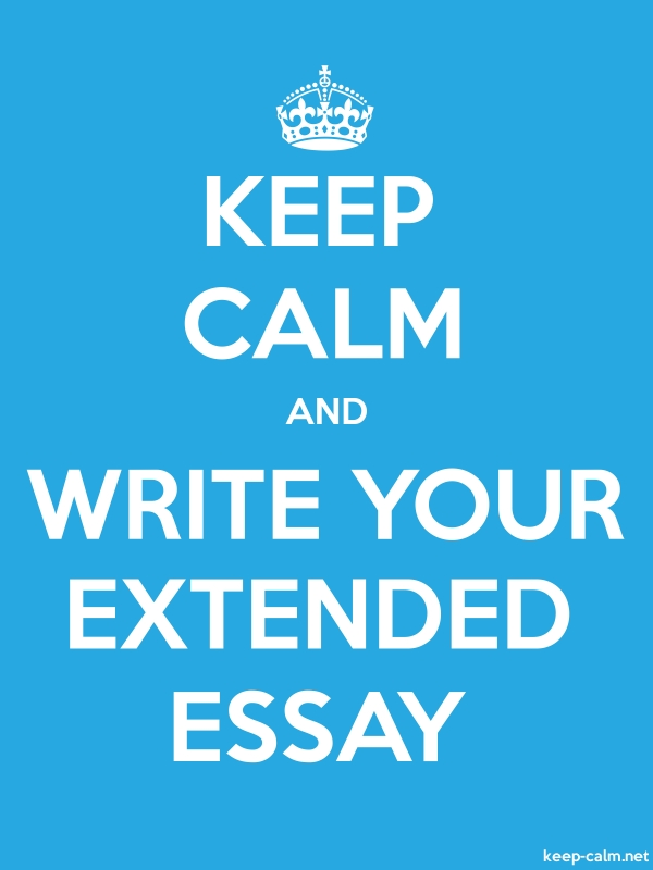 KEEP CALM AND WRITE YOUR EXTENDED ESSAY - white/blue - Default (600x800)