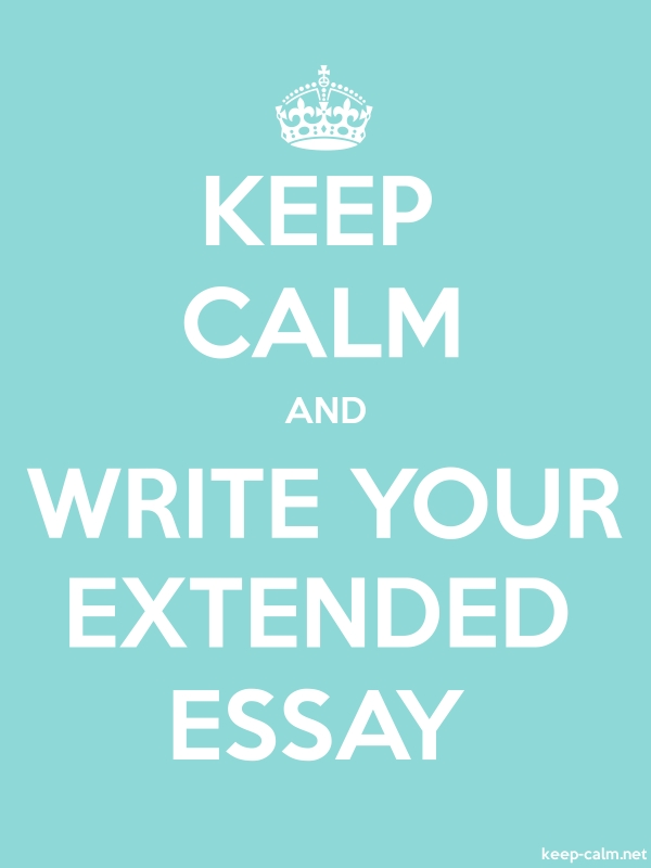 KEEP CALM AND WRITE YOUR EXTENDED ESSAY - white/lightblue - Default (600x800)