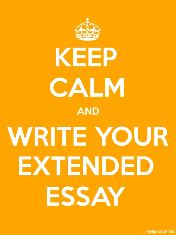 KEEP CALM AND WRITE YOUR EXTENDED ESSAY - white/orange - Default (600x800)