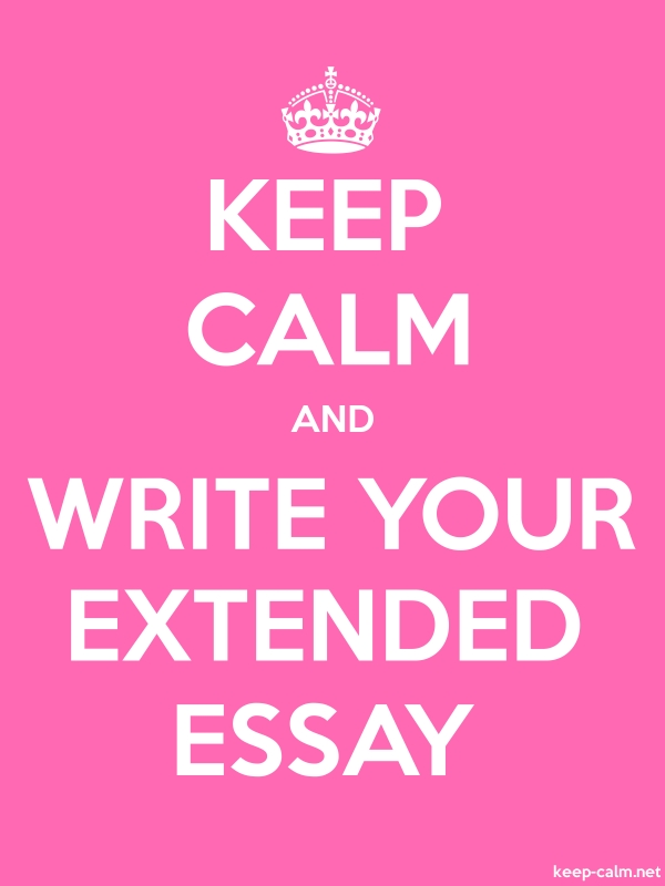KEEP CALM AND WRITE YOUR EXTENDED ESSAY - white/pink - Default (600x800)