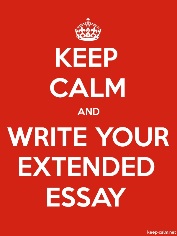 KEEP CALM AND WRITE YOUR EXTENDED ESSAY - white/red - Default (600x800)