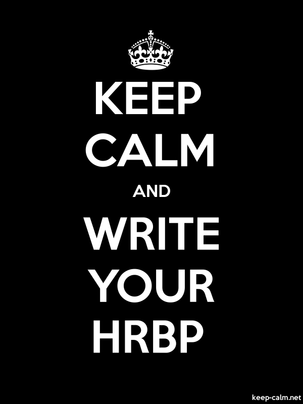 KEEP CALM AND WRITE YOUR HRBP - white/black - Default (600x800)