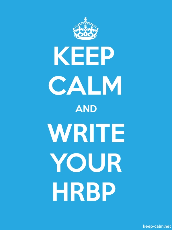 KEEP CALM AND WRITE YOUR HRBP - white/blue - Default (600x800)