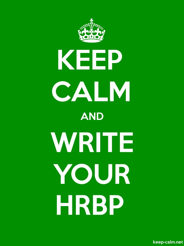 KEEP CALM AND WRITE YOUR HRBP - white/green - Default (600x800)