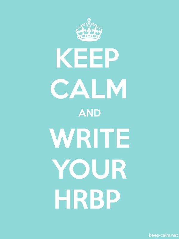 KEEP CALM AND WRITE YOUR HRBP - white/lightblue - Default (600x800)