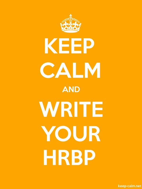 KEEP CALM AND WRITE YOUR HRBP - white/orange - Default (600x800)