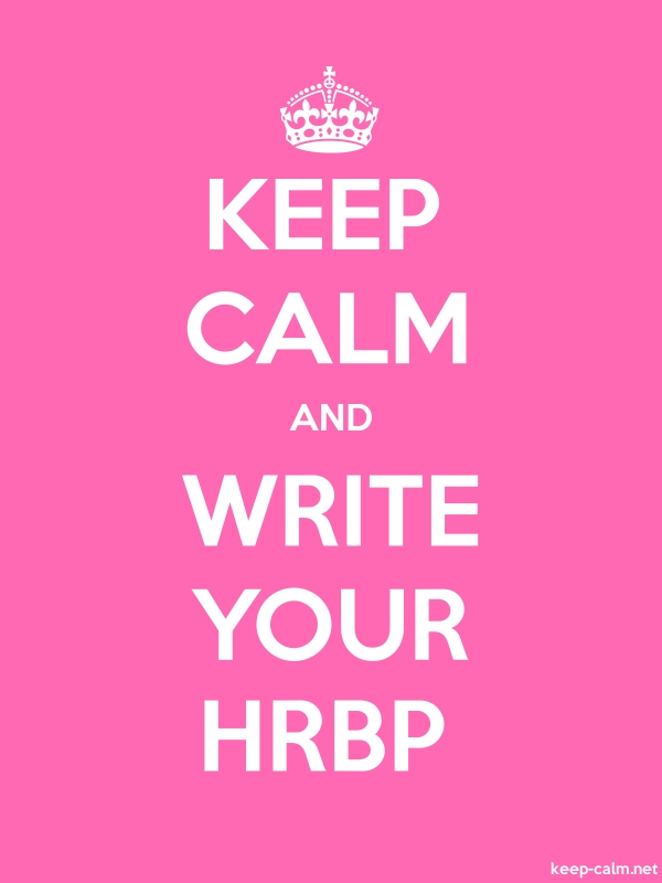 KEEP CALM AND WRITE YOUR HRBP - white/pink - Default (600x800)