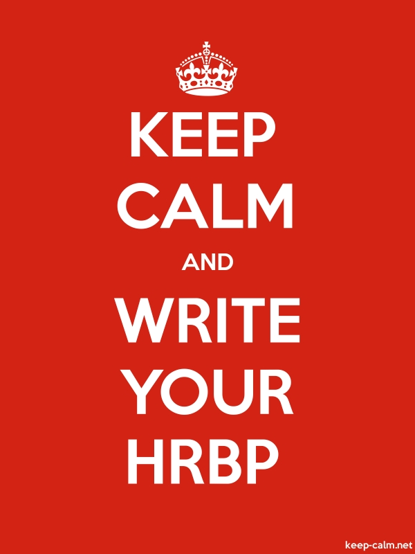 KEEP CALM AND WRITE YOUR HRBP - white/red - Default (600x800)