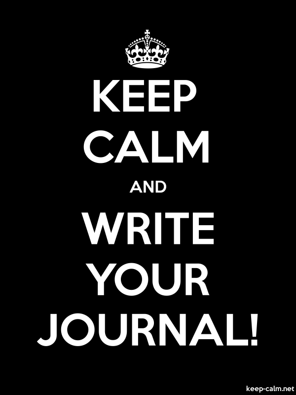 KEEP CALM AND WRITE YOUR JOURNAL! - white/black - Default (600x800)