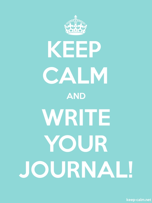 KEEP CALM AND WRITE YOUR JOURNAL! - white/lightblue - Default (600x800)