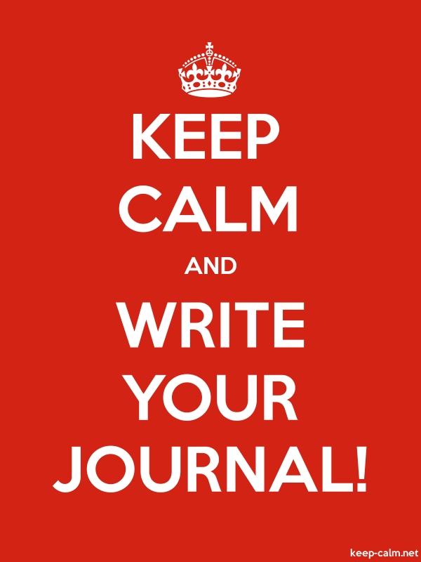 KEEP CALM AND WRITE YOUR JOURNAL! - white/red - Default (600x800)