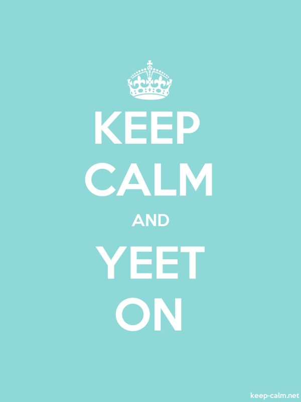 KEEP CALM AND YEET ON - white/lightblue - Default (600x800)
