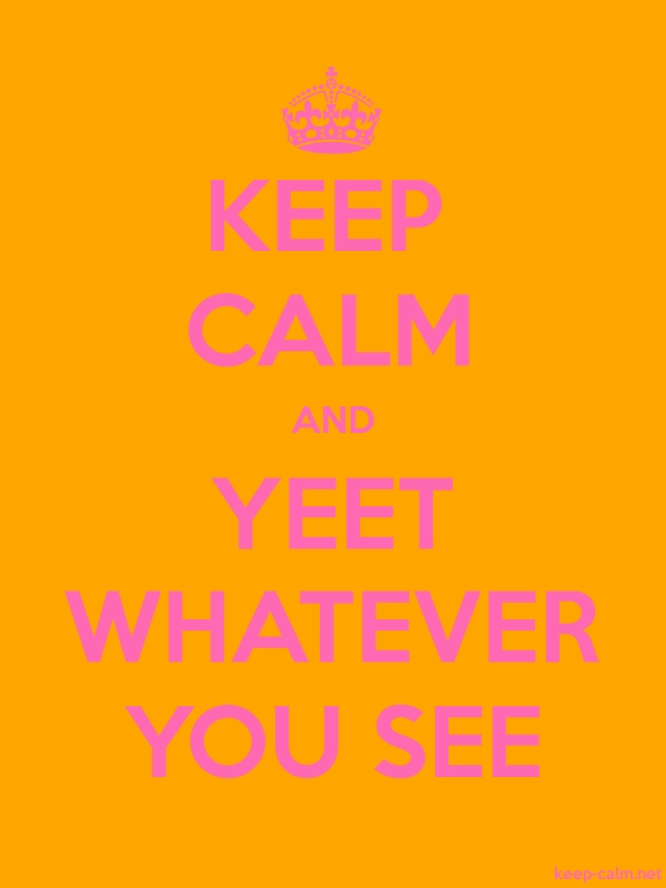 KEEP CALM AND YEET WHATEVER YOU SEE - pink/orange - Default (600x800)