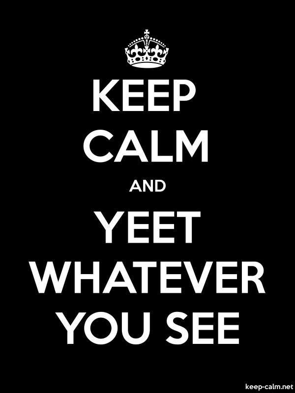 KEEP CALM AND YEET WHATEVER YOU SEE - white/black - Default (600x800)