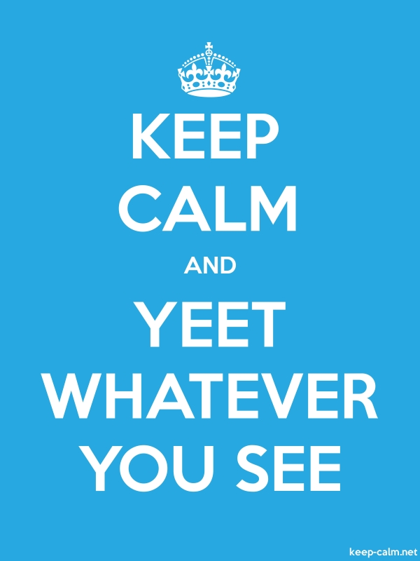 KEEP CALM AND YEET WHATEVER YOU SEE - white/blue - Default (600x800)