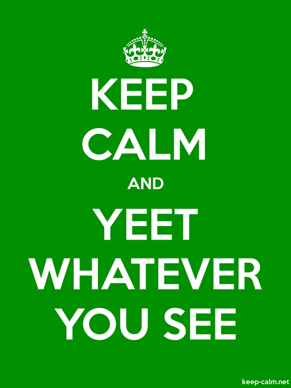 KEEP CALM AND YEET WHATEVER YOU SEE - white/green - Default (600x800)