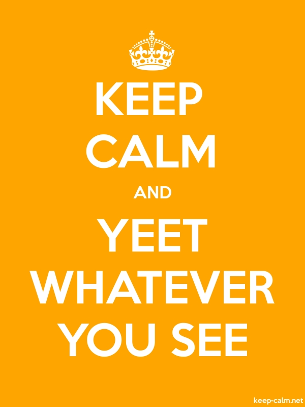 KEEP CALM AND YEET WHATEVER YOU SEE - white/orange - Default (600x800)