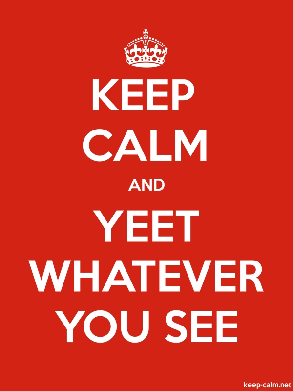 KEEP CALM AND YEET WHATEVER YOU SEE - white/red - Default (600x800)
