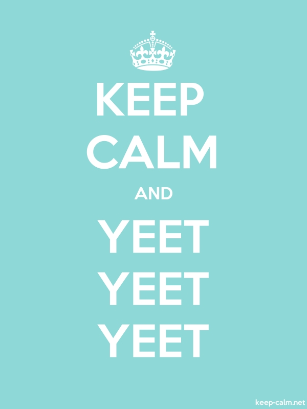 KEEP CALM AND YEET YEET YEET - white/lightblue - Default (600x800)