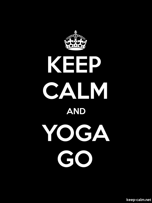 KEEP CALM AND YOGA GO - white/black - Default (600x800)
