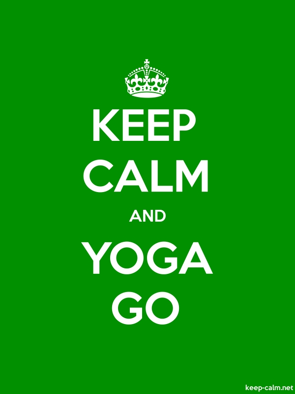 KEEP CALM AND YOGA GO - white/green - Default (600x800)