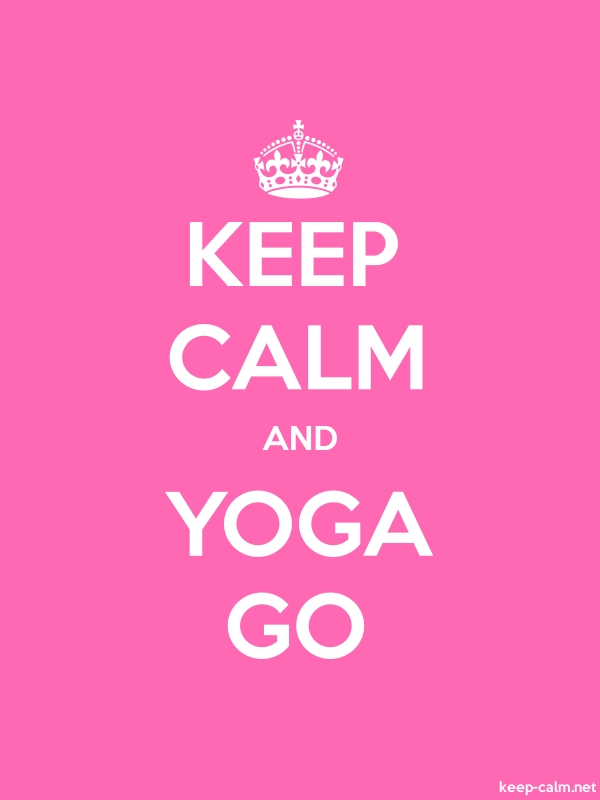 KEEP CALM AND YOGA GO - white/pink - Default (600x800)