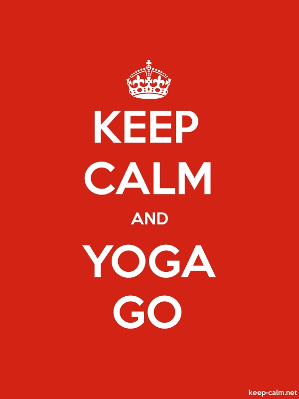 KEEP CALM AND YOGA GO - white/red - Default (600x800)