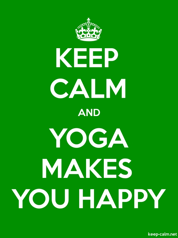 KEEP CALM AND YOGA MAKES YOU HAPPY - white/green - Default (600x800)