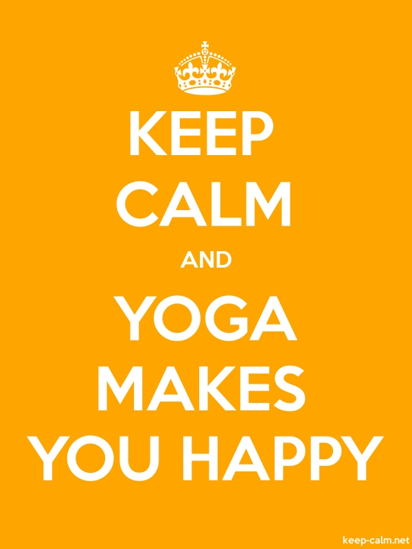 KEEP CALM AND YOGA MAKES YOU HAPPY - white/orange - Default (600x800)
