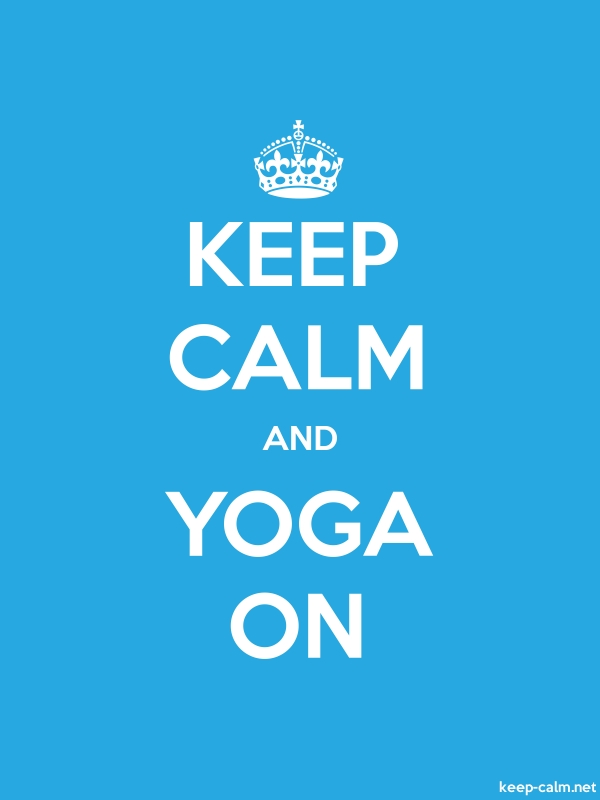 KEEP CALM AND YOGA ON - white/blue - Default (600x800)