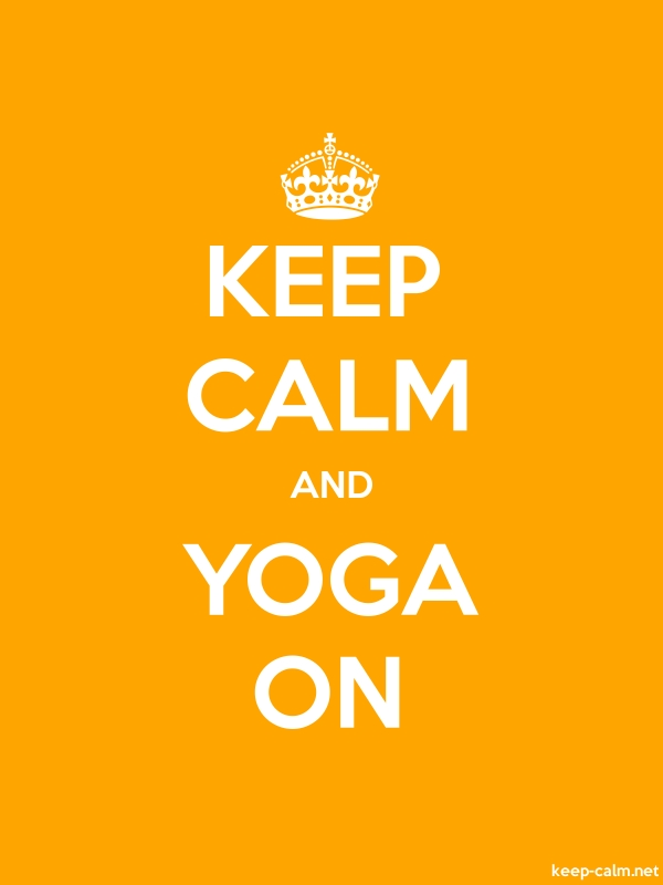 KEEP CALM AND YOGA ON - white/orange - Default (600x800)
