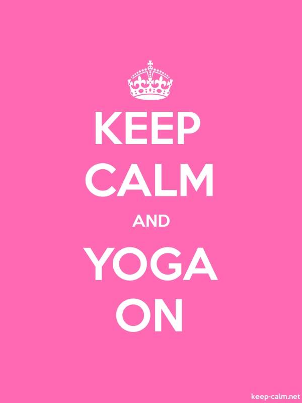 KEEP CALM AND YOGA ON - white/pink - Default (600x800)