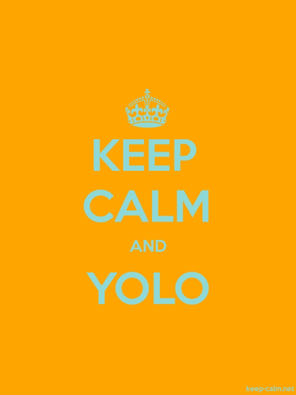 KEEP CALM AND YOLO - lightblue/orange - Default (600x800)