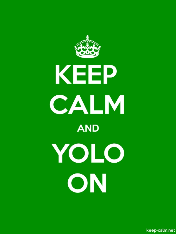 KEEP CALM AND YOLO ON - white/green - Default (600x800)