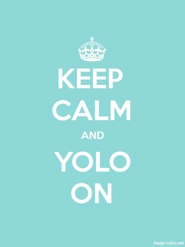 KEEP CALM AND YOLO ON - white/lightblue - Default (600x800)