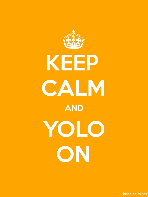 KEEP CALM AND YOLO ON - white/orange - Default (600x800)