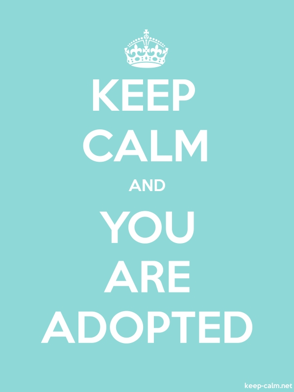 KEEP CALM AND YOU ARE ADOPTED - white/lightblue - Default (600x800)