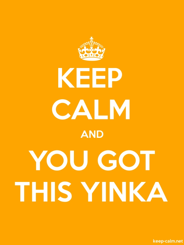 KEEP CALM AND YOU GOT THIS YINKA - white/orange - Default (600x800)
