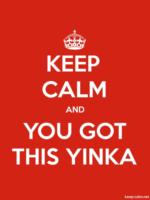 KEEP CALM AND YOU GOT THIS YINKA - white/red - Default (600x800)